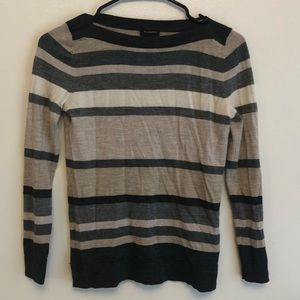 Talbots 100% merino wool fitted square neck top